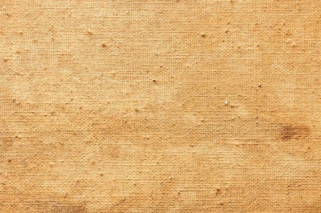 Abstrait de vieille toile pour la peinture. texture vue de dessus agrandi.