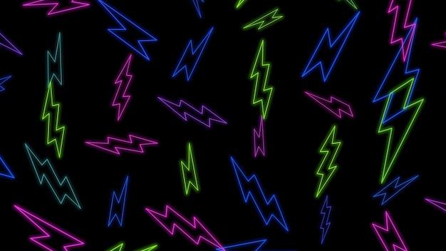 Abstrait de zig zag rétro. illustration 3d géométrique dynamique élégante et luxueuse des années 80 et 90 de style memphis