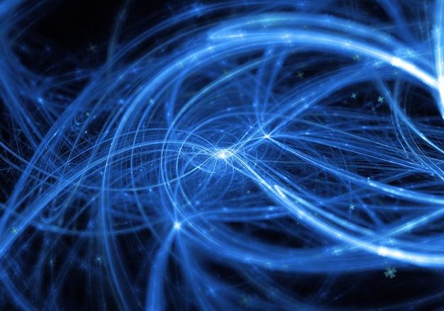 Abstraite bleu lignes ondulées fond