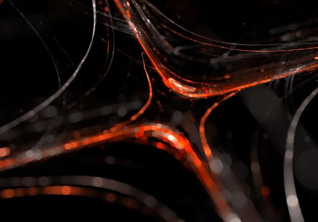 Abstraite dynamique rouge noir feux arrière-plan