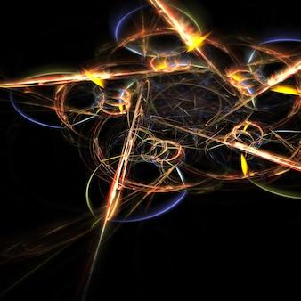 Abstraite forme fractale d'étoiles