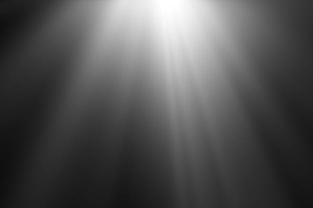Abstraits beaux faisceaux de lumière, des rayons de lumière superposent l'écran sur fond noir.
