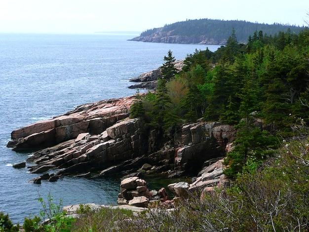 Acadia national park massachusetts usa rivage