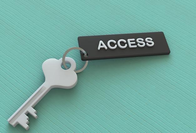 Access, message sur clé, rendu 3d