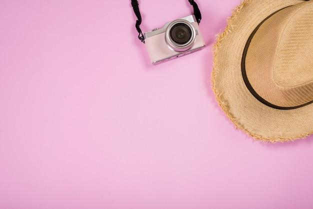Accessoires et accessoires de voyage vue de dessus