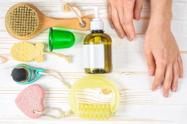 Accessoires anti-cellulite, routine matinale