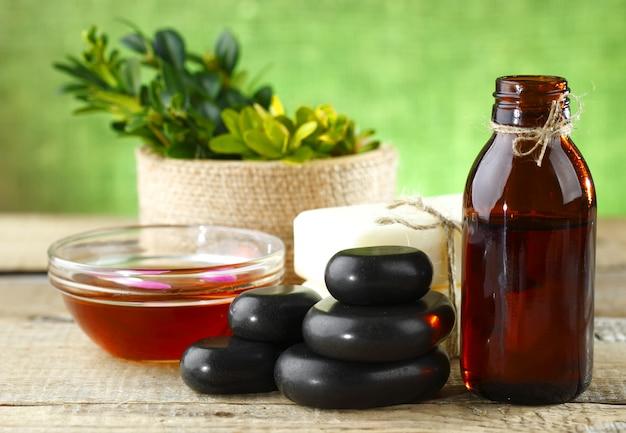 Accessoires d'aromathérapie au spa