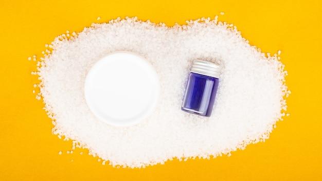 Accessoires de bain aromathérapie crème et shampoing au sel de mer blanc soins de la peau