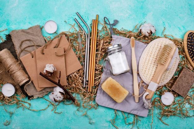 Accessoires écologiques zéro déchet sans plastique