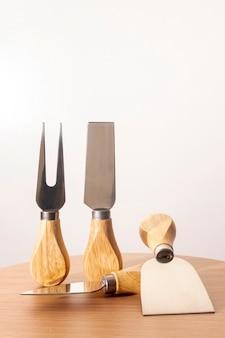 Accessoires de fromage rustique close-up