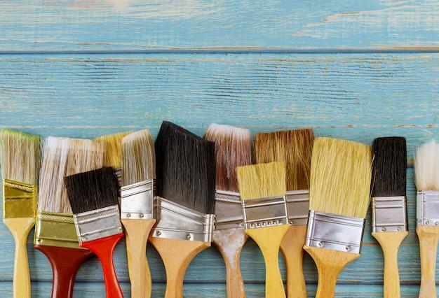 Accessoires d'outils de peinture pour la rénovation domiciliaire avec divers outils de pinceau de peinture