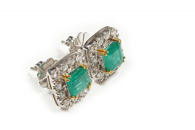 Accessoires de pierre high value gems, or, diamant, rubis, perle, boucles d'oreilles