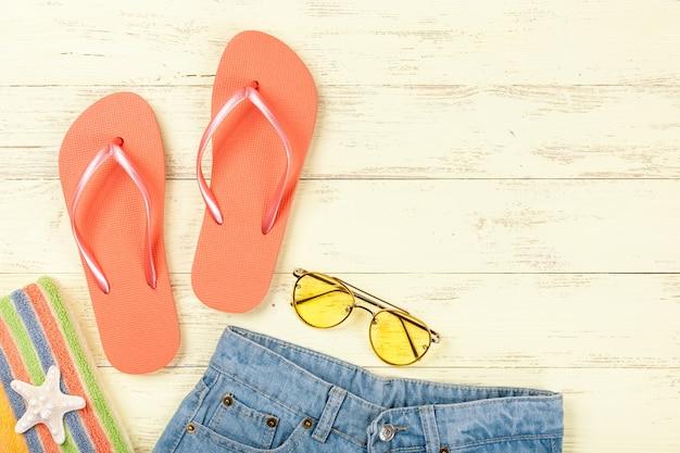 Accessoires de plage d'été