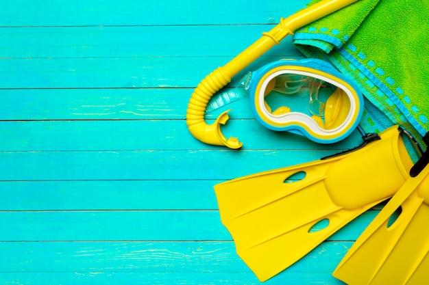 Accessoires de plage plat poser.