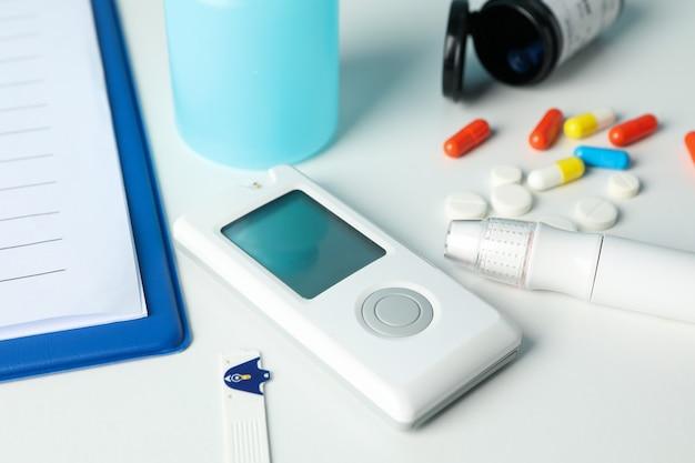 Accessoires pour le diabète, gros plan