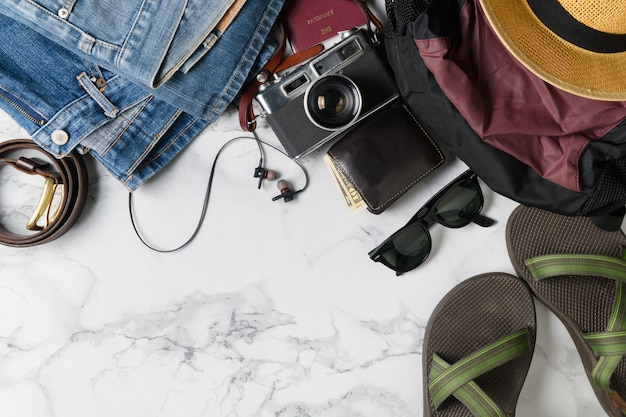 Accessoires de sac à dos et articles de voyage pour l'été