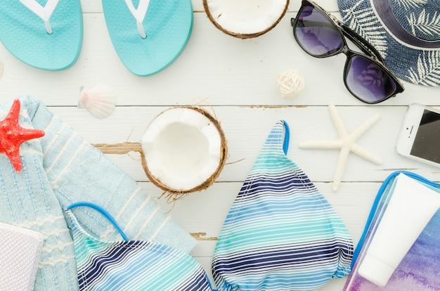 Accessoires de voyage à la noix de coco