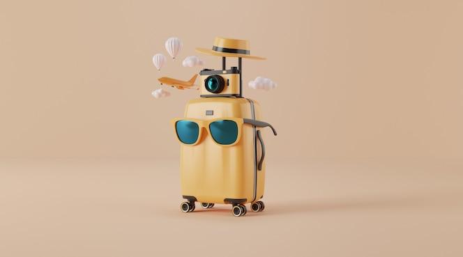Accessoires de voyage avec valise.