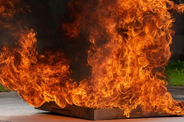 Acciden d'huile en feu