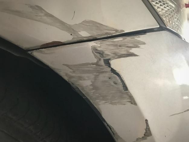 Accident de voiture accidenté fond automobile