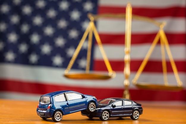 Accident de voiture besoin de justice au cas où les négociations ne peuvent pas être en droit américain.