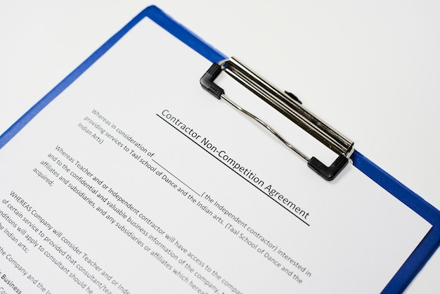 Accord de non-concurrence du contractant