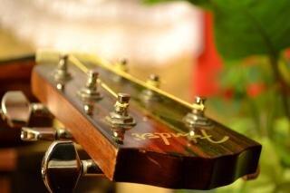 Accordeur de guitare acoustique chevilles
