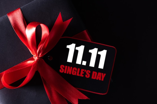 Achat en ligne de chine, concept de vente au jour de 11,11 single.