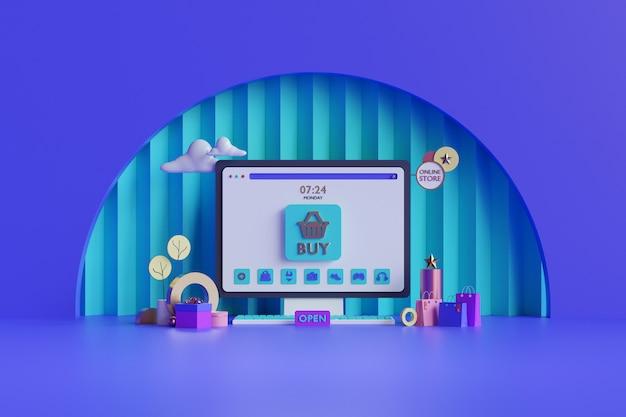 Achats en ligne. boutique en ligne sur site web ou application mobile