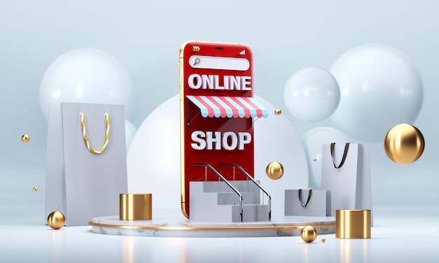 Achats en ligne, boutique mobile