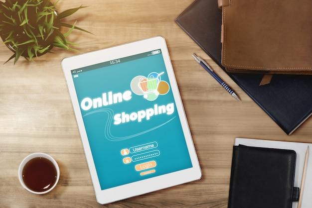 Achats en ligne et technologie d'argent sur internet