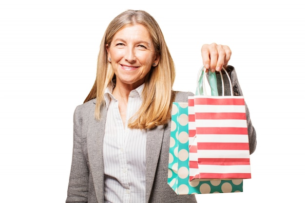 Les achats de personne magasin d'affaires