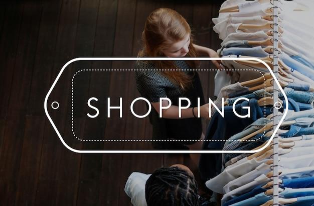 Acheter shopping icône d'achat shopaholic