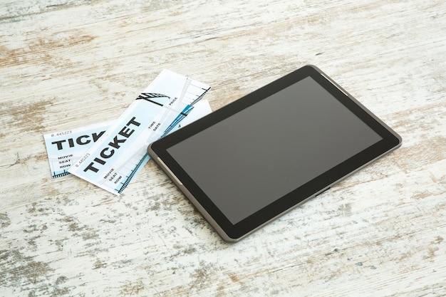 Achetez des billets de cinéma en ligne avec une tablette pc