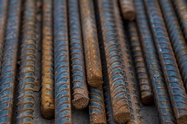 Acier, construction en acier, fer à repasser pour le bâtiment, pile d'acier à nervures