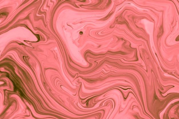 Acrylique rose vagues art contemporain