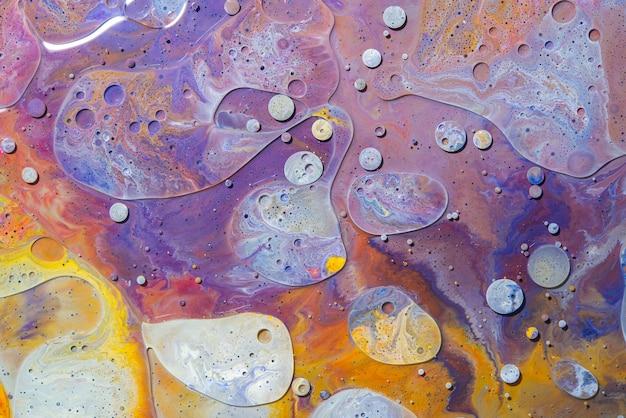 Acrylique verser couleur surfaces abstraites en marbre liquide design.