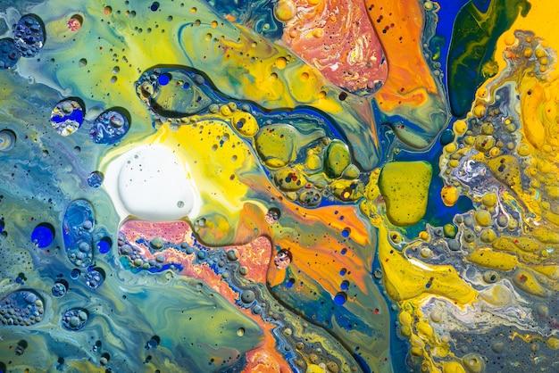 Acrylique verser la couleur des surfaces abstraites en marbre liquide design