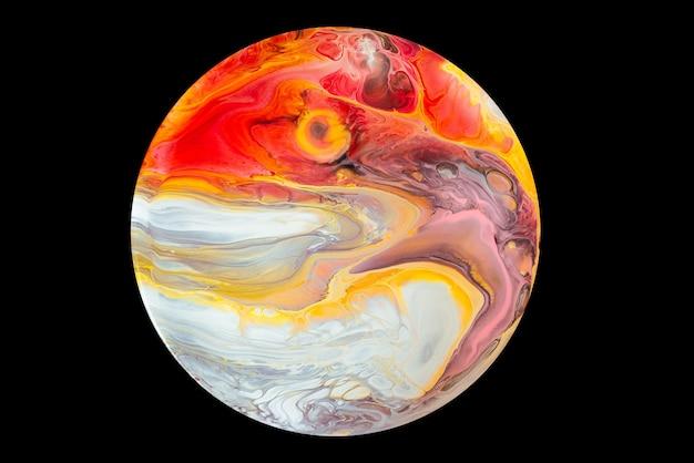 Acrylique verser la couleur des surfaces abstraites en marbre liquide