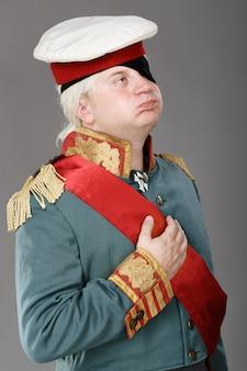 Acteur déguisé en russe generalissimo suvorov