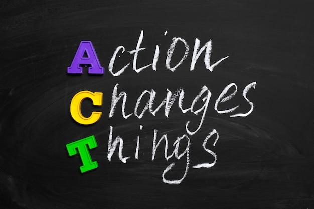 Action change le texte sur le tableau
