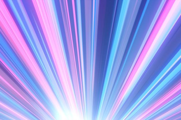 Action de ligne de vitesse de couleur comique inspirée de l'illustration 3d d'anime japonais