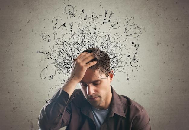 Adh stress anxiété adulte homme dur désordre