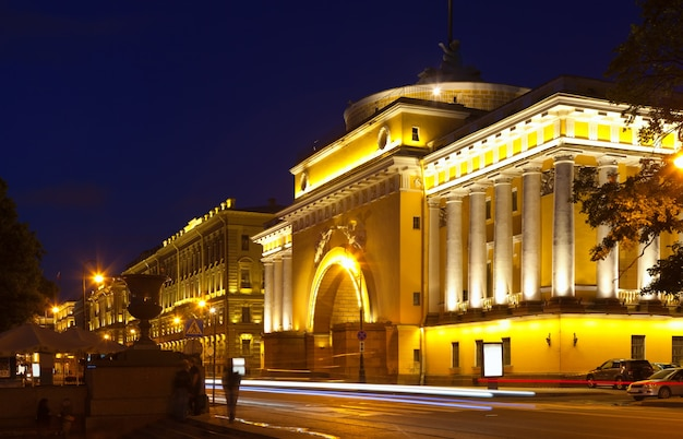 Admiralty embankment in night