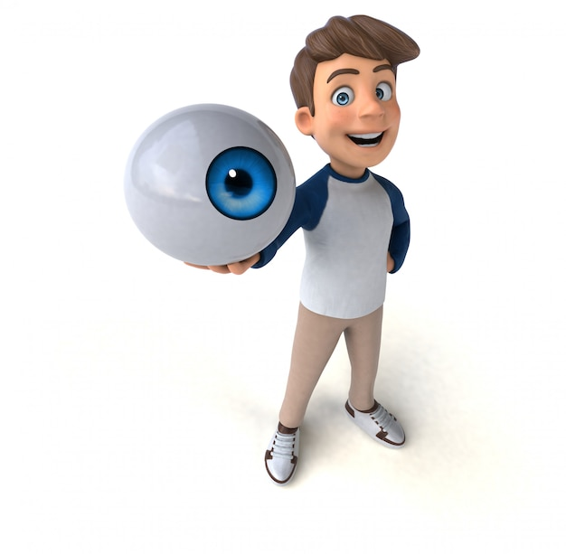 Adolescent amusant de personnage de dessin animé 3d