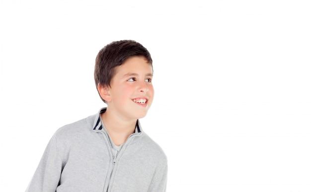 Adolescent pensif de treize ans