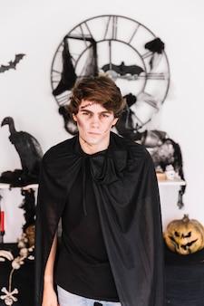 Adolescent, zombie, sombre, noir, vêtements