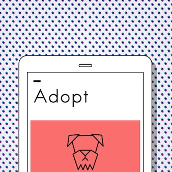 Adoptez l'icône de chien de meilleurs amis d'animaux