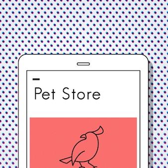 Adoptez l'icône d'oiseau de meilleurs amis d'animaux