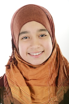 Adorable fille musulmane arabe